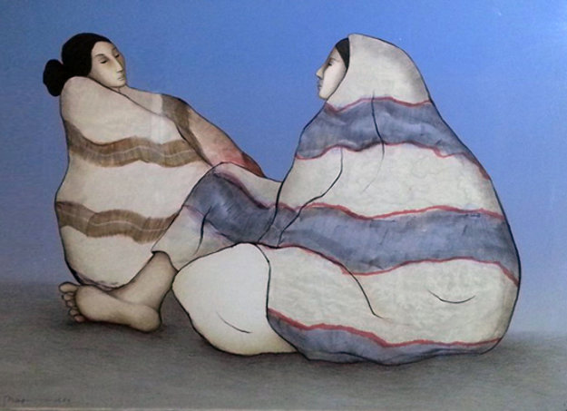 Navajo Woman State I 1980 Limited Edition Print by R.C. Gorman