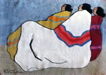 Desert Women Tapestry 1970 AP 60x82 Limited Edition Print - R.C. Gorman
