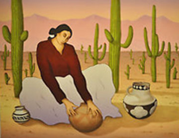 Saguaro 1990 Limited Edition Print by R.C. Gorman