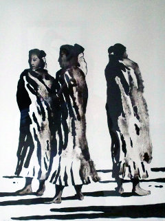 Three Navajo Women 1974 Limited Edition Print - R.C. Gorman