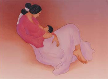 Laila's Child 1997 Limited Edition Print - R.C. Gorman