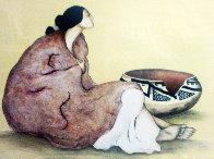 Tonto Pot Limited Edition Print by R.C. Gorman - 0