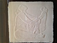 Two Women Cast Paper 1987 Limited Edition Print by R.C. Gorman - 1