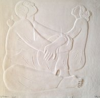 Two Women Cast Paper 1987 Limited Edition Print by R.C. Gorman - 0