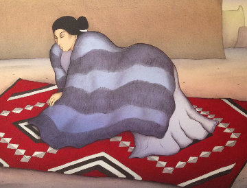 Red Blanket 1985 Limited Edition Print - R.C. Gorman