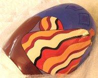 Striped Blanket Ceramic Vase 1993 Sculpture by R.C. Gorman - 1