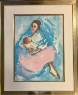 Woman 1972 (Mother and Child) Limited Edition Print by R.C. Gorman - 2