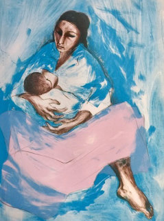 Woman 1972 (Mother and Child) Limited Edition Print - R.C. Gorman