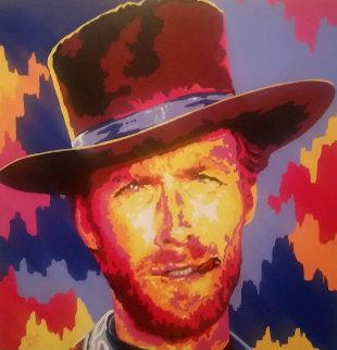 Clint Eastwood 2005 36x36 Original Painting - Vladimir Gorsky
