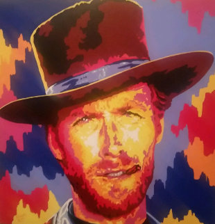 Clint Eastwood 2005 36x36 Original Painting by Vladimir Gorsky