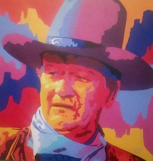 John Wayne  2004 36x36 Original Painting - Vladimir Gorsky
