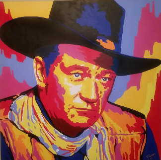 John Wayne Unique 2005 36x36 Original Painting by Vladimir Gorsky