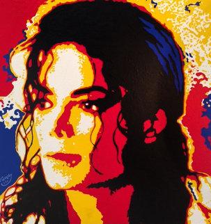 Michael Jackson 24x24 Original Painting - Vladimir Gorsky