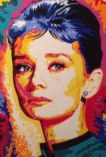 Audrey Hepburn 2000 40x30 Original Painting - Vladimir Gorsky