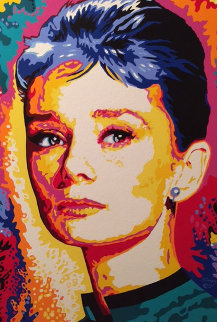 Audrey Hepburn 2000 40x30 Super Huge Original Painting - Vladimir Gorsky