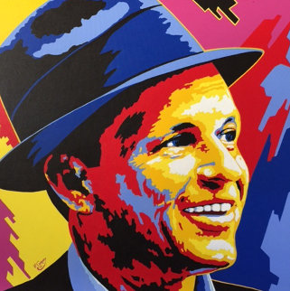 Frank Sinatra 2005 36x36 Original Painting - Vladimir Gorsky
