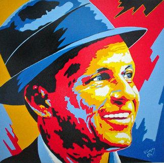 Frank Sinatra 2004 36x36 Original Painting - Vladimir Gorsky
