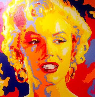 Marilyn Monroe 36x36 Original Painting - Vladimir Gorsky