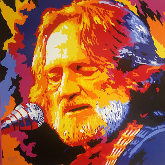 Willie Nelson 2005 52x52 HS by Willie Original Painting by Vladimir Gorsky