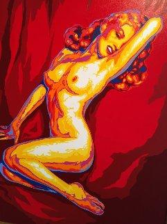 Marilyn Monroe Playboy Cover 43x55 Original Painting by Vladimir Gorsky