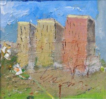 Near the Sky 1986 26x28 Original Painting - Tonino Gottarelli