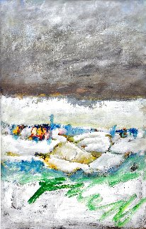 End of Winter 1991 20x14 Original Painting - Tonino Gottarelli