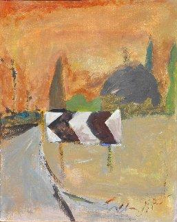 On the Road 1989 26x22 Original Painting - Tonino Gottarelli