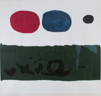 Green Foreground 1972 Limited Edition Print - Adolph Gottlieb