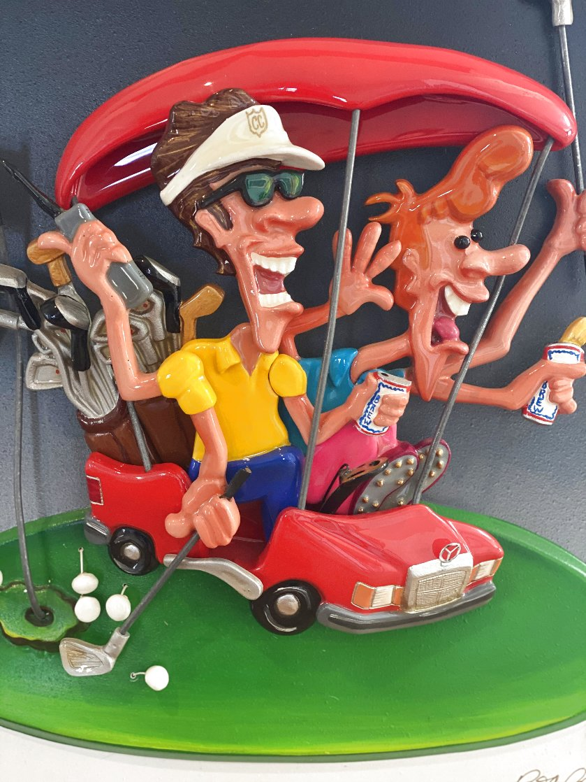 Le Play (Golf) Cast Resin Sculpture 1994 20 in Sculpture by Roark Gourley