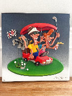 Le Play (Golf) Cast Resin Sculpture 1994 20 in Sculpture by Roark Gourley - 1