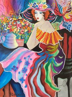 Untitled Watercolor 28x24 Watercolor - Patricia Govezensky