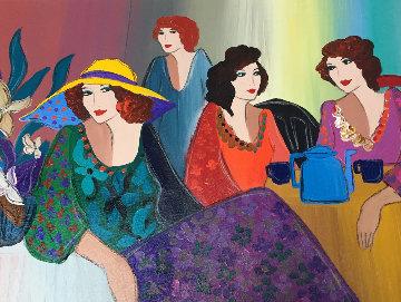 Quiet Afternoon 31x37 Original Painting - Patricia Govezensky