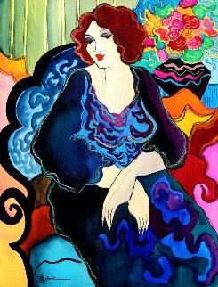 Blue Day Watercolor 2008 14x11 Watercolor - Patricia Govezensky