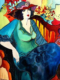 Unique Dress Watercolor 209 14x11 Watercolor - Patricia Govezensky