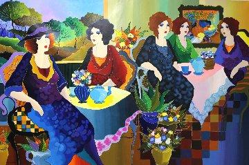 French Cafe 2017 40x60 Original Painting - Patricia Govezensky