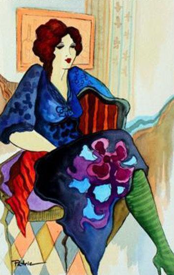 Holiday Season Watercolor 23x19 Watercolor by Patricia Govezensky