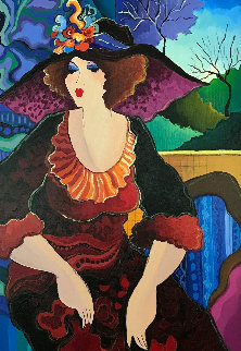 Untitled Painting 2009 39x25 Original Painting - Patricia Govezensky