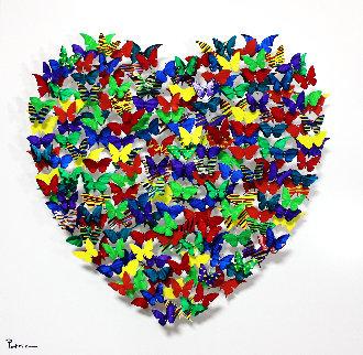 Heart Metal Sculpture 2019 20 in Sculpture by Patricia Govezensky