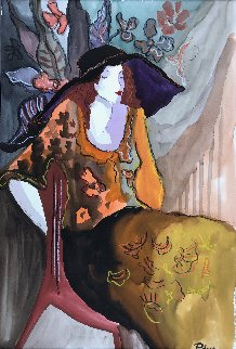 Untitled Woman Watercolor 21x14 Watercolor by Patricia Govezensky