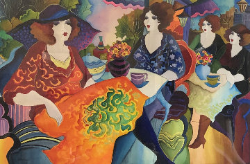 Untitled (Four Women) 54x74 Huge  Works on Paper (not prints) - Patricia Govezensky