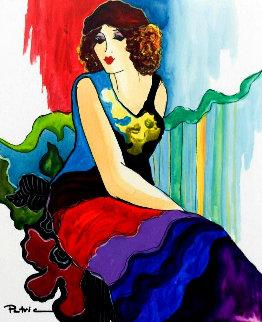 Victoria Watercolor 18x16 Watercolor by Patricia Govezensky