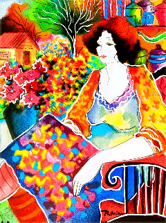 Lady With Flower View AP 2005 Limited Edition Print - Patricia Govezensky