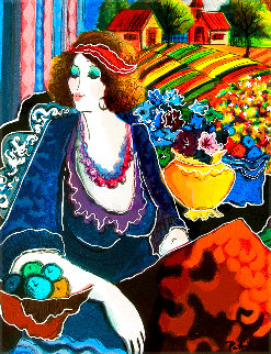 Lady By the Meadow AP 2005 Limited Edition Print - Patricia Govezensky