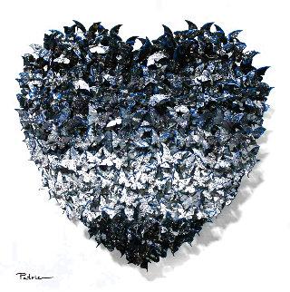 Heart Metal Sculpture 20 in  Sculpture - Patricia Govezensky