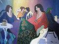 Girl Talk 35x44 Original Painting - Patricia Govezensky