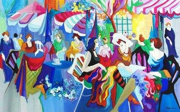 Untitled Cafe Watercolor 26x41 Super Huge  Watercolor - Patricia Govezensky