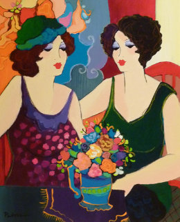 Untitled Two Women 2005 30x26 Original Painting by Patricia Govezensky