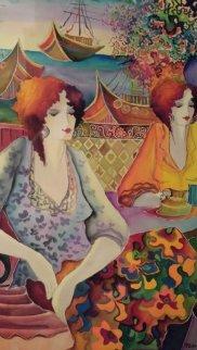 Untitled Watercolor  (two Women) 1998 43x36 Watercolor - Patricia Govezensky