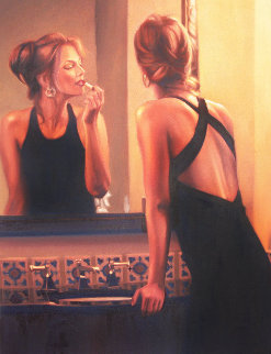 Evening At Los Gatos 44x35  Original Painting - Carrie Graber