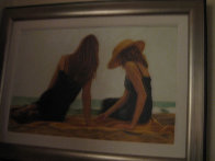 Conversation II 2004 18x30 Original Painting by Carrie Graber - 1